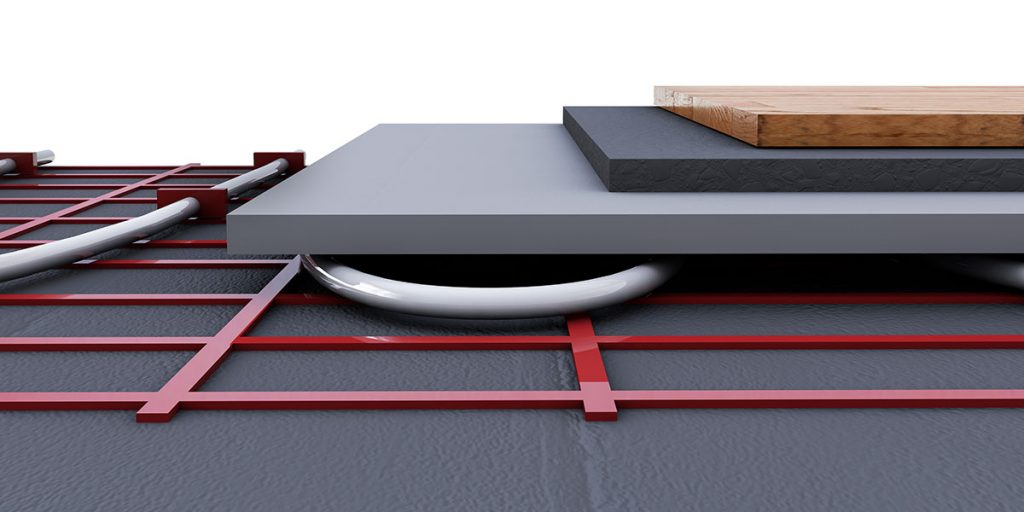 basement renovation heated flooring